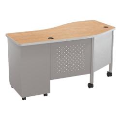 Balt Instructor Teacher's Desk II Desk, Oak/Platinum