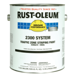 Rust-Oleum High-Performance 2300 System Inverted Striping Paint, 1 Gallon, Matte Yellow