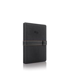 """Solo Urban Universal Fit Tablet/eReader Booklet, 5.5"""" to 8.5"""", Black/Orange"""