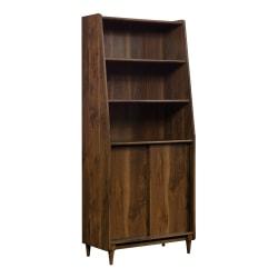 Sauder® Harvey Park Bookcase, With Doors, 5 Shelf, Grand Walnut