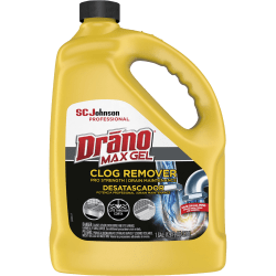 Drano Max Gel Clog Remover - Ready-To-Use Gel - 128 oz (8 lb) - 1 Each - Clear