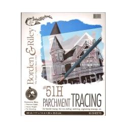 "Borden & Riley No. 51H Parchment Tracing Paper, 11"" x 14"", 16 Lb, Clear, 50 Sheets"