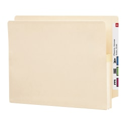 """Smead® Manila File Pocket With Reinforced Tab, Letter Size, 1 3/4"""" Expansion, Box Of 25"""