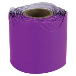 """Carson-Dellosa Plain Continuous-roll Scalloped Border - (Scalloped Border) Shape - 2.25"""" Width x 432"""" Length - Purple - 1 Roll"""