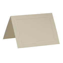 """JAM Paper® Fold-Over Cards, Panel Border, 5"""" x 6 5/8"""", Ivory, Pack Of 25"""