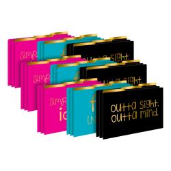 Barker Creek Tab File Folders, Legal Size, File In Style, Pack Of 27 Folders