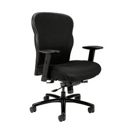 basyx by HON® Wave Mesh High-Back Big And Tall Executive Chair, Black
