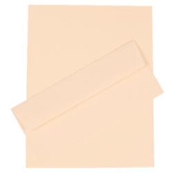 "JAM Paper® Strathmore Stationery Set, 8 1/2"" x 11"", Natural White, Set Of 100 Sheets And 100 Envelopes"