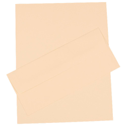 "JAM Paper® Strathmore Stationery Set, 8 1/2"" x 11"", Ivory, Set Of 100 Sheets And 100 Envelopes"