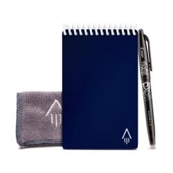 "Rocketbook Mini Notebook, 3-1/2"" x 5-1/2"", 48 Pages, Dark Blue"