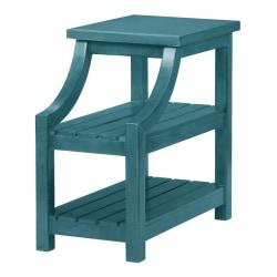 "Powell Dutton 2-Shelf Side Table, 23""H x 14""W x 24""D, Teal"