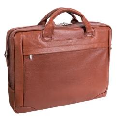 McKleinUSA BRIDGEPORT Large Laptop Brief, Brown