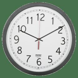 Skilcraft Quartz Movement Wall Clock 16 12 W Black Abilityone 6645 01 623 8824 Office Depot