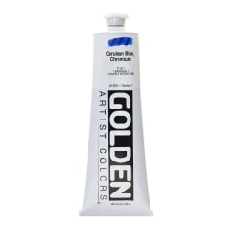 Golden Heavy Body Acrylic Paint, 5 Oz, Cerulean Blue Chromium