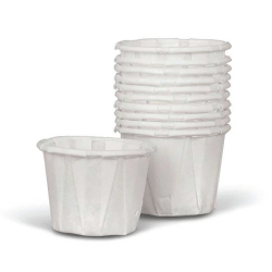 Medline Disposable Paper Drinking Cups, 1 Oz, White, 250 Cups Per Box, Case Of 20 Boxes