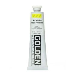 Golden Heavy Body Acrylic Paint, 2 Oz, Cadmium Yellow Primrose (CP)