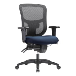 WorkPro® 9500XL Series Big And Tall Mesh/Fabric Mid-Back Multifunction Office Chair, Navy/Black
