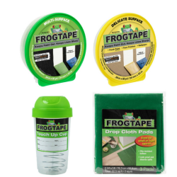 """Duck® Brand FrogTape Contractor's Paint Prep Pack, 0.94"""" x 60 Yd"""