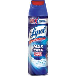 Lysol Max Foamer Bathroom Cleaner - Aerosol - 19 fl oz (0.6 quart) - Fresh Scent - 12 / Carton - Clear