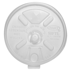 Dart Lift-n-Lock Lid With Straw Slot For Foam Cups, 16 Oz, Translucent, Pack Of 1,000