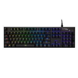 HyperX Alloy FPS RGB Keyboard - Cable Connectivity - USB 2.0 Interface - English (US) - Windows - Mechanical Keyswitch