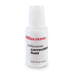 Office Depot® Brand Correction Fluid, Multipurpose, 20 mL, White
