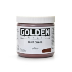 Golden Heavy Body Acrylic Paint, 16 Oz, Burnt Sienna