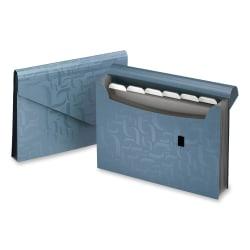 "Pendaflex® 7-Pocket Poly Expanding File, 9 1 1/6"" x 13 1/2"", Blue"