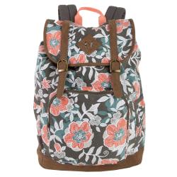 """Trailmaker Drawstring Backpack With 17"""" Laptop Pocket, Floral"""