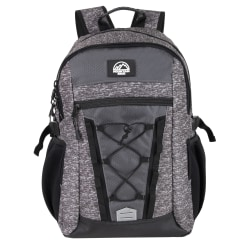 """Trailmaker Bungee Backpack With 17"""" Laptop Pocket, Gray/Black"""