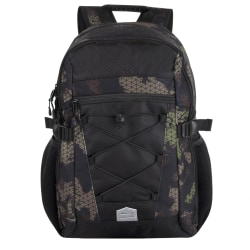"Trailmaker Bungee Backpack With 17"" Laptop Pocket, Camo Green/Black"