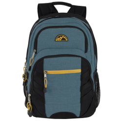 "Trailmaker Multi-Pocket Backpack, 19""H x 13""W x 8""D, Teal/Black"
