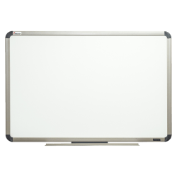 """SKILCRAFT® Total Erase Dry-Erase Whiteboard, 36"""" x 24"""", Aluminum Frame With Silver Finish (AbilityOne 7110 01 622 2121)"""