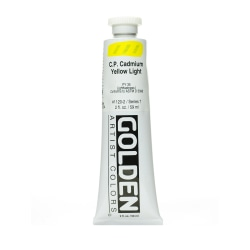 Golden Heavy Body Acrylic Paint, 2 Oz, Cadmium Yellow Light (CP)