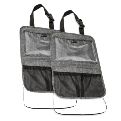 Honey Can Do Hanging Backseat Organizers, Gray, Pack Of 2