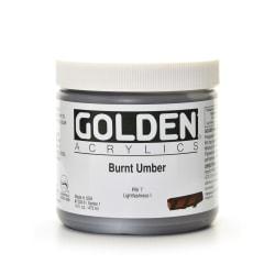 Golden Heavy Body Acrylic Paint, 16 Oz, Burnt Umber