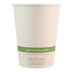 World Centric NoTree Paper Hot Cups, 12 Oz, Natural, Pack Of 1,000 Cups