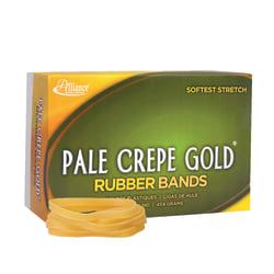 "Alliance® Pale Crepe Gold® Rubber Bands, #64, 3 1/2"" x 1/4"", 1 Lb, Box Of 490"