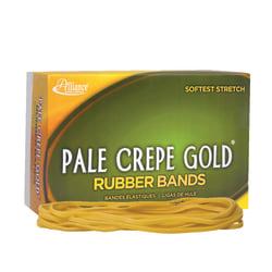 "Alliance® Pale Crepe Gold® Rubber Bands, #117B, 7"" x 1/8"", 1 Lb, Box Of 300"