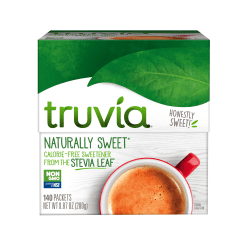 Truvia Natural Sweeteners, 0.07 Oz, Pack Of 140 Packets