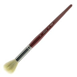 Silver Brush Mop Paint Brush, Size 14, Round Bristle, Goat Hair, Dark Red