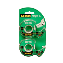 "Scotch® Magic™ Tape In Dispensers, 3/4"" x 600"", Pack Of 2 Rolls"