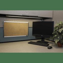 """SKILCRAFT® Cork Bulletin Board, Cork, 14"""" x 24"""", Aluminum Frame With Silver Finish (AbilityOne 7195 01 622 2141)"""