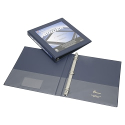 """SKILCRAFT® Frame View Binder, 1/2"""" Rings, 45% Recycled, Blue (AbilityOne 7510-01-462-1383)"""