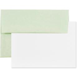 "JAM Paper® Stationery Set, Gummed Closure, 5 1/2"" x 8 1/8"", Set Of 25 White Cards And 25 Strathmore Ivory Envelopes"