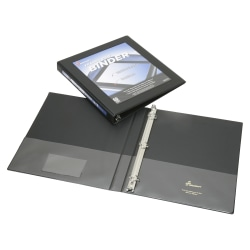 """SKILCRAFT® Frame View 3-Ring Binder, 1/2"""" D-Rings, 45% Recycled, Black (AbilityOne 7510-01-462-1384)"""