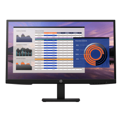 """HP P27h G4 27"""" Full HD LCD Monitor - 16:9 - 27"""" Class - In-plane Switching (IPS) Technology - 1920 x 1080 - 250 Nit - 5 ms GTG - 75 Hz Refresh Rate - HDMI - VGA - DisplayPort"""