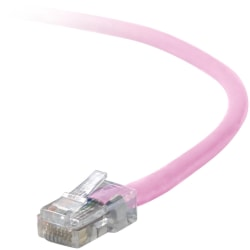 Belkin Cat. 5E UTP Patch Cable - RJ-45 Male - RJ-45 Male - 3ft - Pink