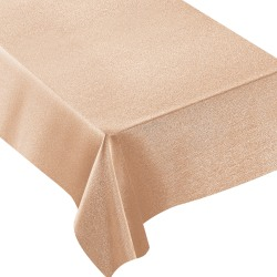 "Amscan Metallic Fabric Table Cover, 60"" x 84"", Rose Gold"