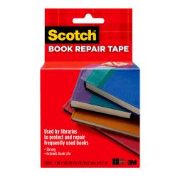 """Scotch® 845 Book Tape, 2"""" x 540"""", Clear"""